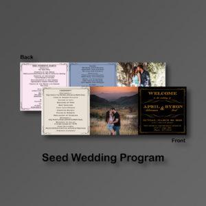 Seed Wedding Program